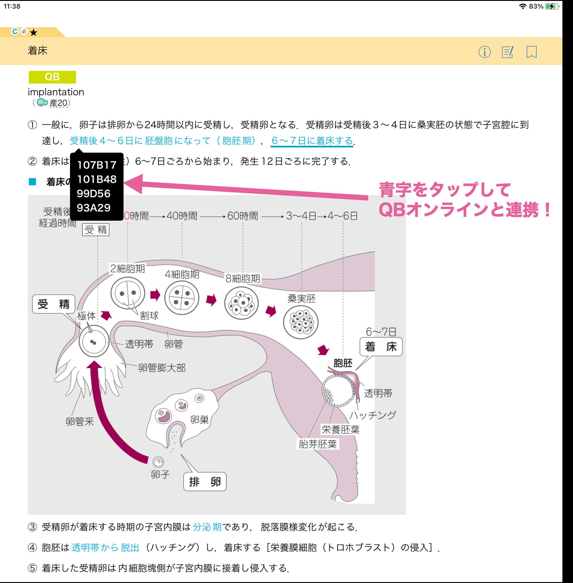 レビューブック産婦人科 アプリ イメージ画面
